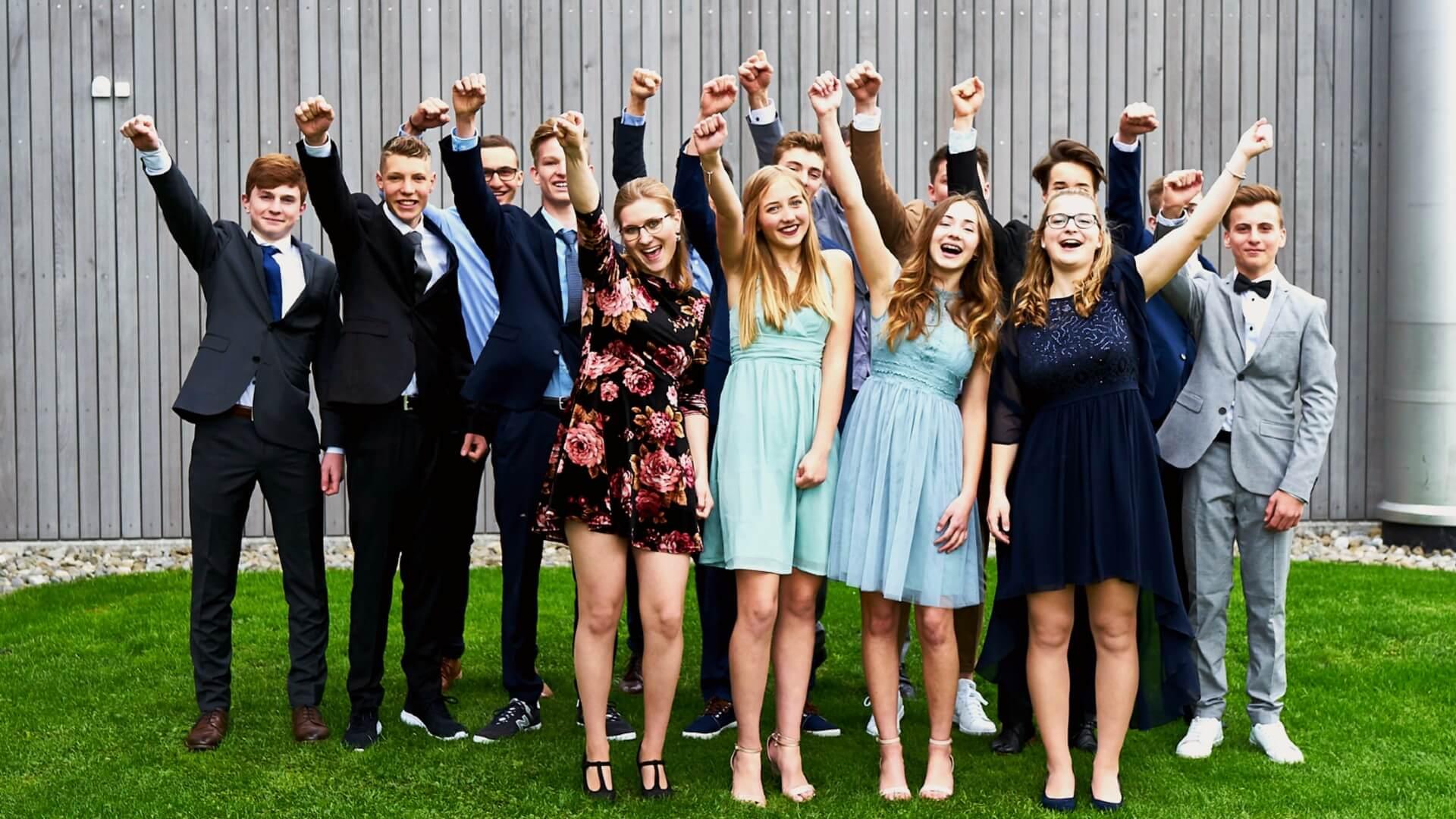 Teens-Segnung Gruppenfoto