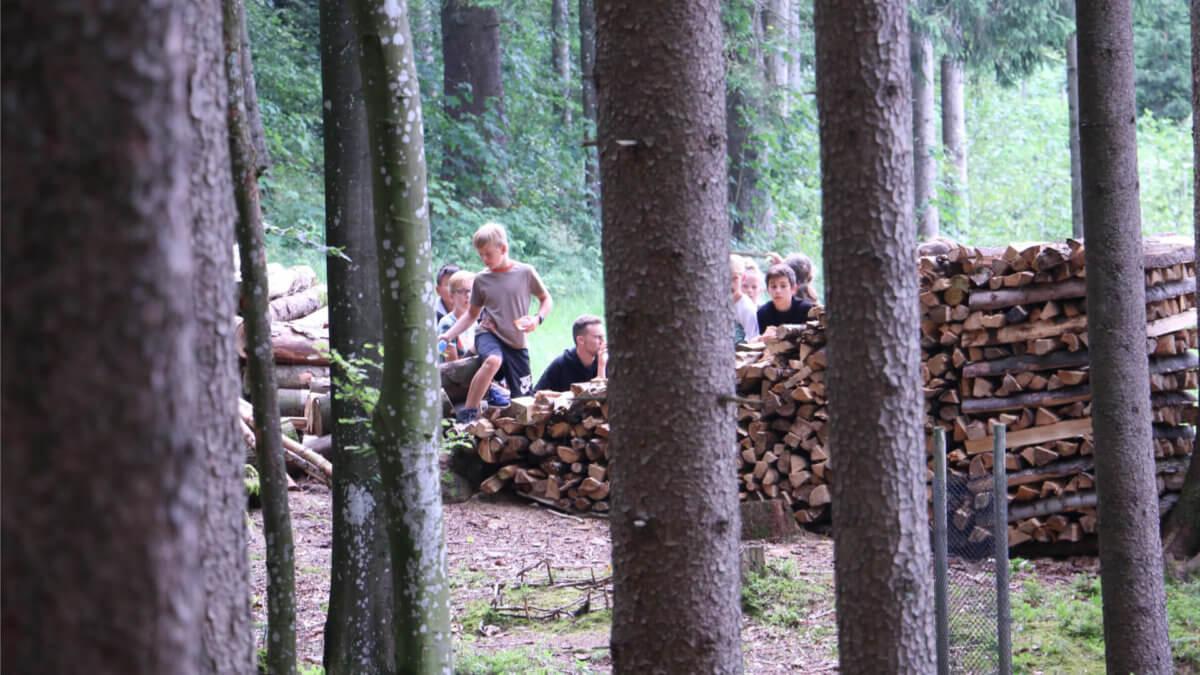 glow Camp 2019 Aufenthalt im Wald